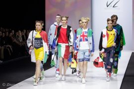 Показ V&L Fashion Platforma на Неделе Моды в Москве.